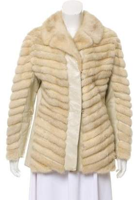 Leather & Mink Fur Jacket