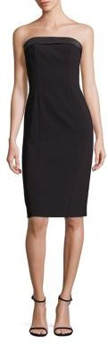 Polo Ralph Lauren Strapless Silk-Trim Tuxedo Dress $398 thestylecure.com