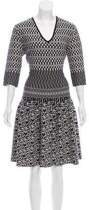 Etro Patterned Wool Dress