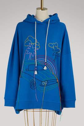 Mira Mikati Embroidered cotton hoodie