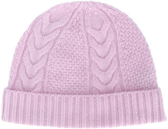 N.Peal cable-knit beanie hat