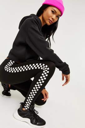 Ardene Checkerboard Side Stripe Leggings