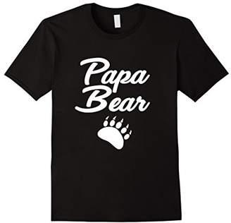 Mens Papa Bear Paw print Camping Tee Shirt Gift For Men