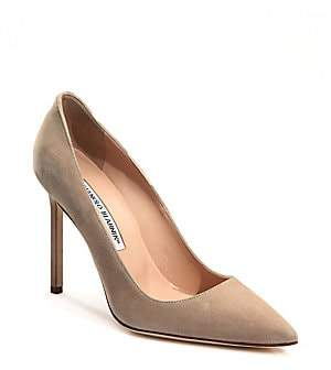 Manolo Blahnik Women's BB 105 Suede Point Toe Pumps