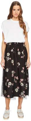 RED Valentino Maxi T-Shirt Dress with Printed Skirt Women's Dress