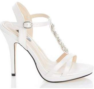 Dorothy Perkins Womens *Quiz White Satin Bridal Sandals