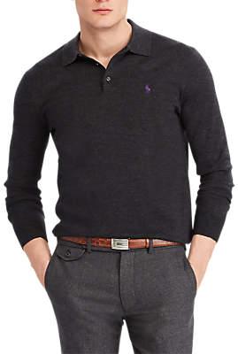 Ralph Lauren Polo Long Sleeve Knitted Polo Shirt