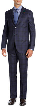 Isaia Plaid Super 140s Wool Two-Piece Suit