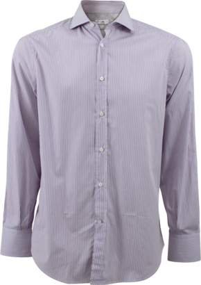 Brunello Cucinelli Mini Stripe Collar Shirt