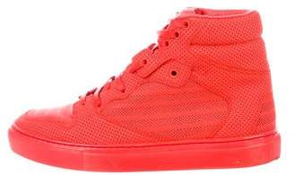 Balenciaga Perforated Leather High-Top Sneakers