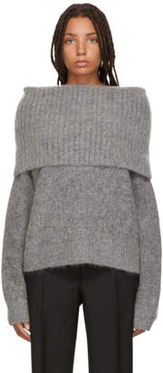 Acne Studios Grey Cowl Neck Sweater