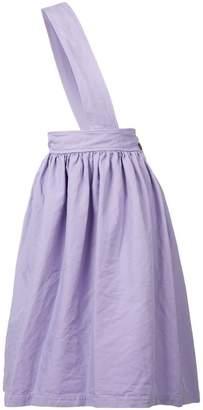 Comme des Garcons cross-strap midi skirt