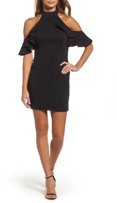 Women's La Femme Cold Shoulder Open Back Body-Con Dress $275 thestylecure.com
