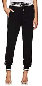 Dolce & Gabbana Women's Logo-Striped Cotton French Terry Sweatpants - Black