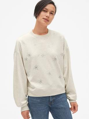 Gap Embellished Pullover Sweatshirt in French Terry