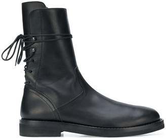 Ann Demeulemeester lace-up fitted boots