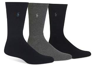 Polo Ralph Lauren Assorted Cushioned Crew Socks - Pack of 3