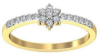 Glamorous JeenJewels Diamond Wedding Ring 0.25 Carat Round Cut Diamond on 10K Yellow Gold