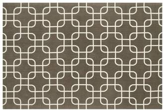 Loloi Rugs Geo Collection Brown and Ivory