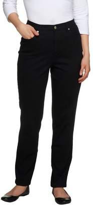 Denim & Co. Regular Slim Leg Classic Waist 5-Pkt Stretch Pants