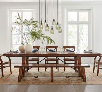 Pottery Barn Benchwright Extending Table & Aaron Chair Dining Set