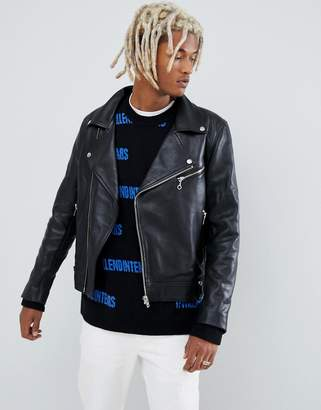 Weekday leather biker jacket