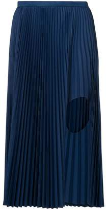 Toga pleated cut out skirt