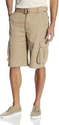 Akademiks Men's Camper Belted Cargo Short