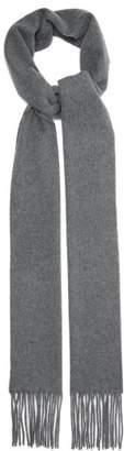 Acne Studios Canada Narrow Wool Scarf - Mens - Grey