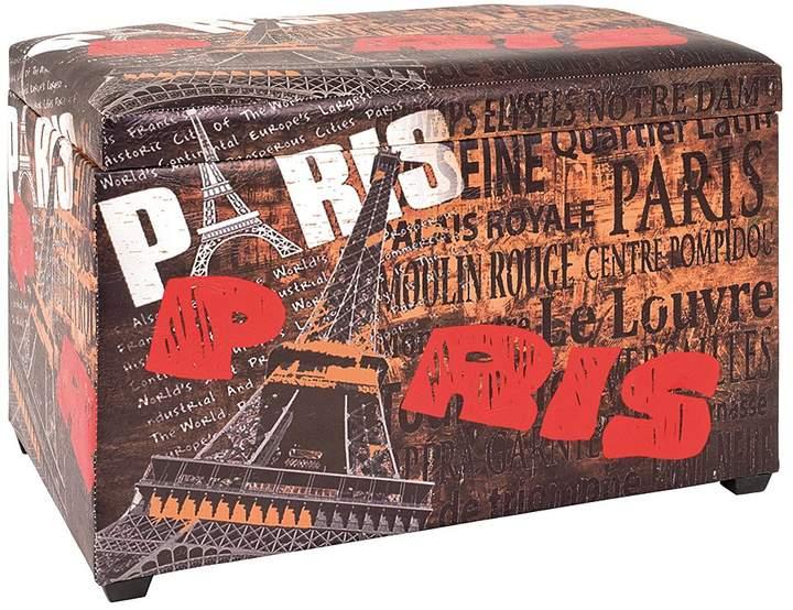Sitztruhe Tour Eiffel Vintage