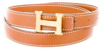 Hermes Vintage Reversible H 13mm Belt Kit