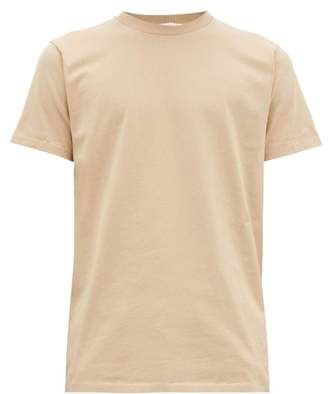 Helmut Lang Monogram Embroidered Cotton T Shirt - Mens - Tan