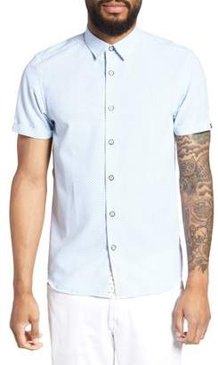 Ted Baker Slim Fit Short Sleeve Sport Shirt