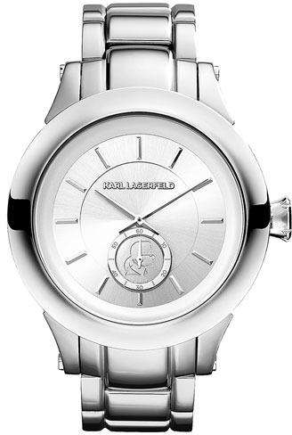 Karl Lagerfeld Chain Detail Bracelet Watch, 44mm
