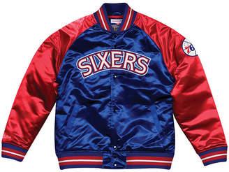 Mitchell & Ness Men Philadelphia 76ers Tough Season Satin Jacket