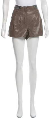Walter W118 Baker Faux Leather Mid-Rise Shorts