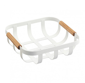 Yamazaki Tosca Small Kitchen Basket - White