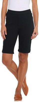 Isaac Mizrahi Live! Regular Knit Denim Bermuda Shorts