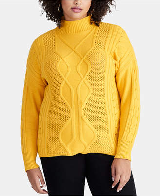 Rachel Roy Plus Size Chunky Cable Sweater
