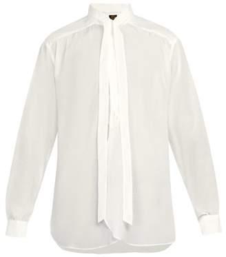 Needles - Ascot Collar Shirt - Mens - White