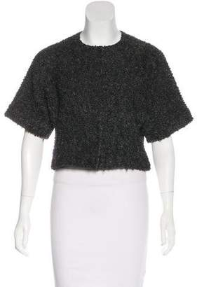 Lafayette 148 Short Sleeve Wool Cardigan