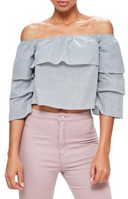 Women's Missguided Bardot Stripe Top $62 thestylecure.com
