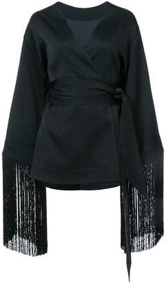 Ellery fringed wrap top