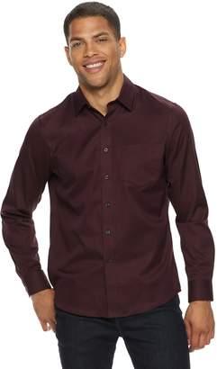 Apt. 9 Men's Textured No-Iron Woven Button-Down Shirt