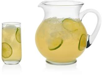 Libbey Acapulco Glass Entertaining Set, 4- 16 ounce Drinking Glasses & 1- 126 ounce Pitcher, Lead-Free, 5-piece