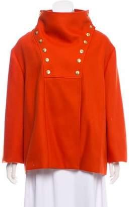 Lyn Devon Short Double-Breasted Jacket
