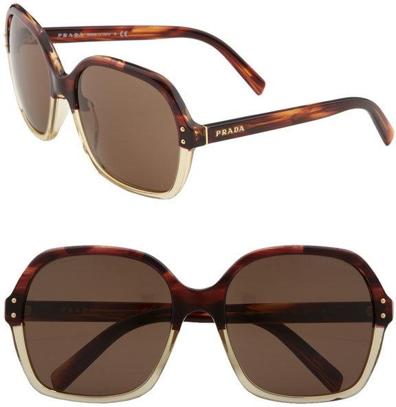 Prada 'Vintage  Oversized' Square Sunglasses