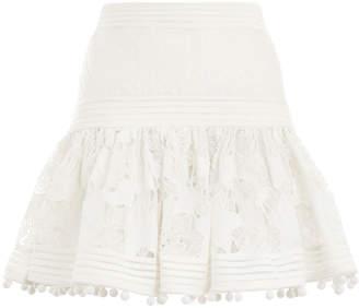 Zimmermann Corsage Embellished Mini Skirt