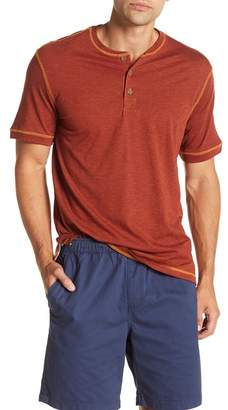 Weatherproof Short Sleeve Solid Henley