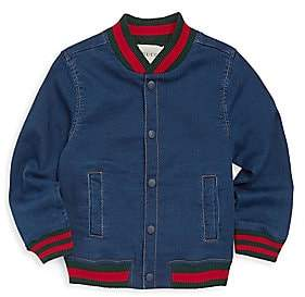 61872b558ebb Gucci Baby Boy s Felted Cotton Jersey Bomber Jacket